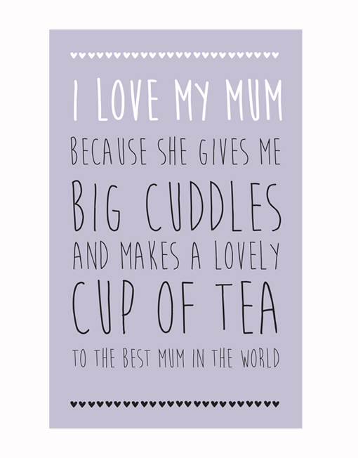 i love my mum because the little shop of prints